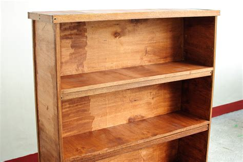 bookcase shelf supports  rustic fruit wood graded rack