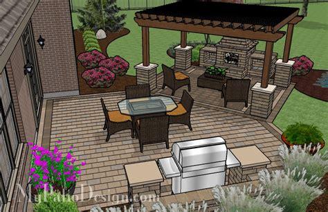 pergola covered fireplace patio tinkerturf