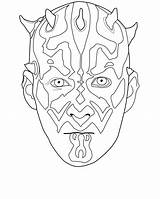 Coloring Darth Maul Wars Mask Female Jedi Soldier Printable Masks Guard Educativeprintable Sheets Royal sketch template