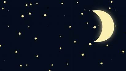 Moon Cartoon Night Starry Animated Crescent Clip