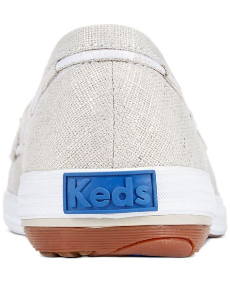 Keds Silver Boat Shoes by Keds S Glimmer Boat Shoes In Metallic Lyst