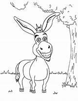 Donkey Coloring Shrek Funny Printable Cartoon Drawing Mule Para Colorir Desenhos Template Bestcoloringpagesforkids Getcolorings Smiling Colorings Escolha Pasta sketch template