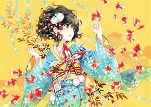 anime, , anime, girls, , kimono, wallpapers, hd, , , , desktop, and, mobile, backgrounds