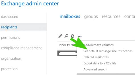 Office 365 Mail Attachment Size Limit by How To Change Office 365 Message Size Limit