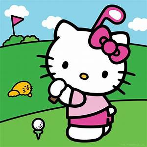 "Hello Kitty on Twitter: ""Do you love to #golf? Hope you"