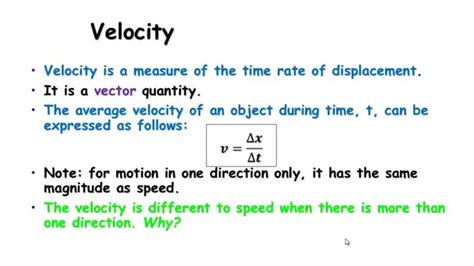 32 Speed, Velocity And Acceleration Youtube