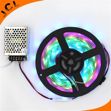 christmas rgb led strip light 5050 smd waterproof 5m roll