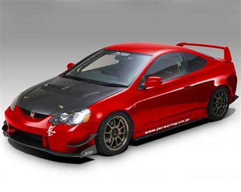 js racing type  cfrp hood acura rsx