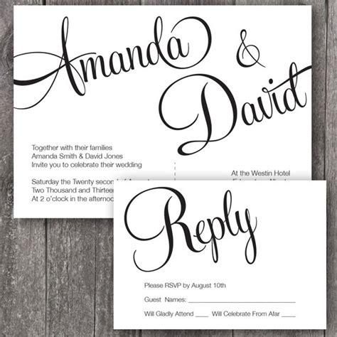 Free Printable Wedding Invitation Templates Theruntimecom