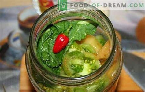 Uzkodas no zaļajiem tomātiem ziemai - svaiga, garšīga ...