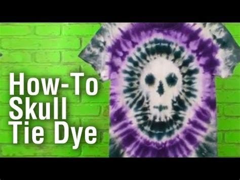 tie dye skull shirt youtube