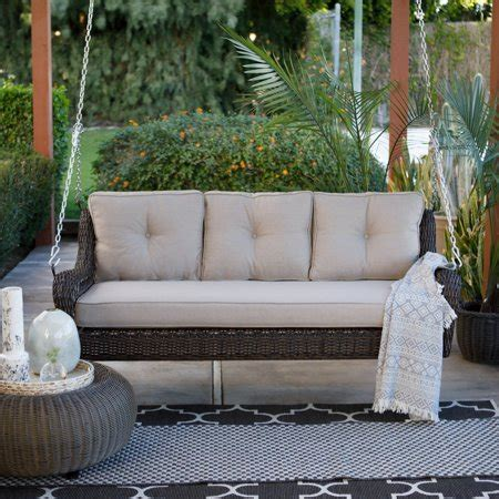 Porch Swing Bed Cushions by Belham Living Montauk Resin Wicker Outdoor Porch Swing Bed