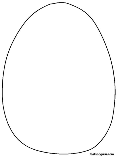 easter egg templates az coloring pages