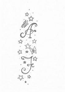 Tattoo Unendlichkeitszeichen Mit Buchstaben : kim sterne und buchstaben tattoos von tattoo ~ Frokenaadalensverden.com Haus und Dekorationen
