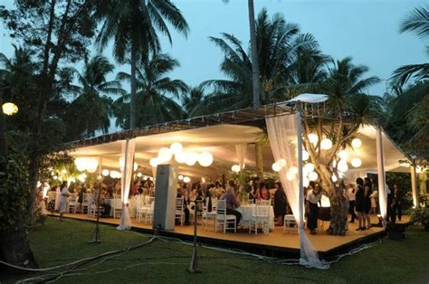 wedding venue garden party  bandung wedding decor