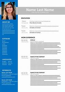 Resume Template On Microsoft Word Free Cv Template To Fill Out In Word Format Cv Examples