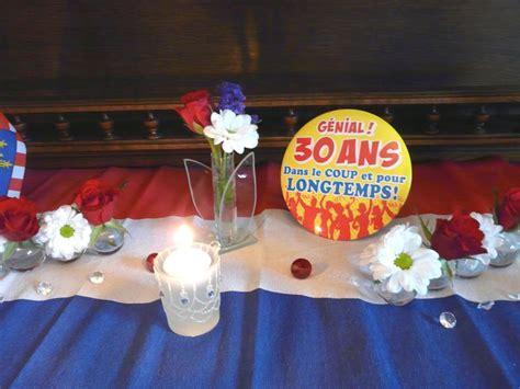 d 233 coration de table anniversaire 30 ans