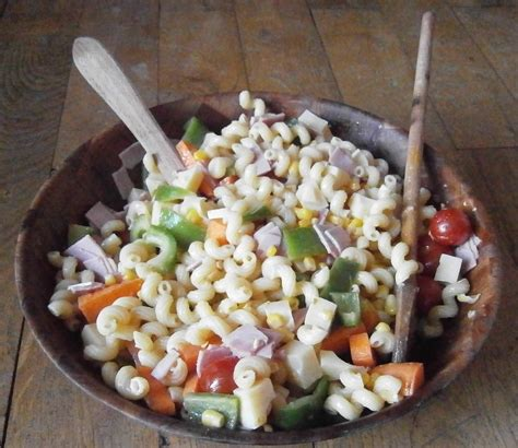 salade froide de pates from my kitchen with pasta salad with vegetables