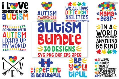 Click here and download the autism quotes graphic · window, mac, linux · last updated 2020 · commercial licence included ✓. Autism SVG Bundle, 30 Designs, DXF PNG Cricut Cutting ...
