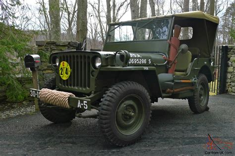 wwii jeep willys 1945 willys mb wwii military jeep army antique