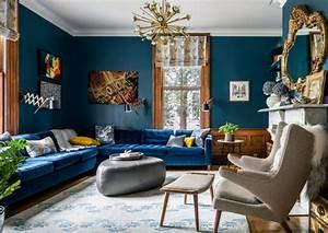 Tapis Salon Bleu Canard : d co salon bleu pour une ambiance l gante et sereine obsigen ~ Melissatoandfro.com Idées de Décoration