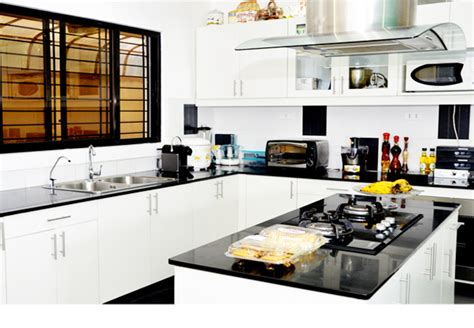 simple kitchen design in the philippines jet black granite for counter top hpl golden 9297