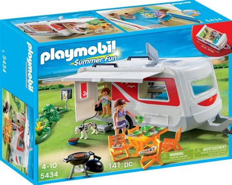 bureau playmobil playmobil family caravan 5434 table mountain toys