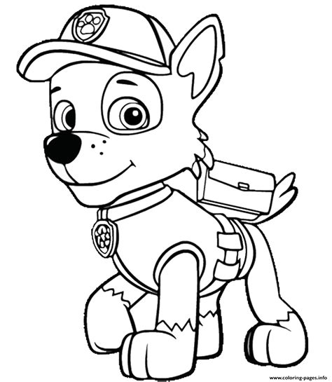 paw patrol coloring pages happiness  homemade
