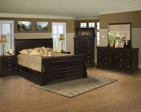 belle rose black cherry sleigh bedroom set