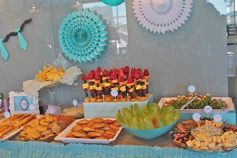 baby shower food ideas for a boy branching out to a baby shower blue mustache theme