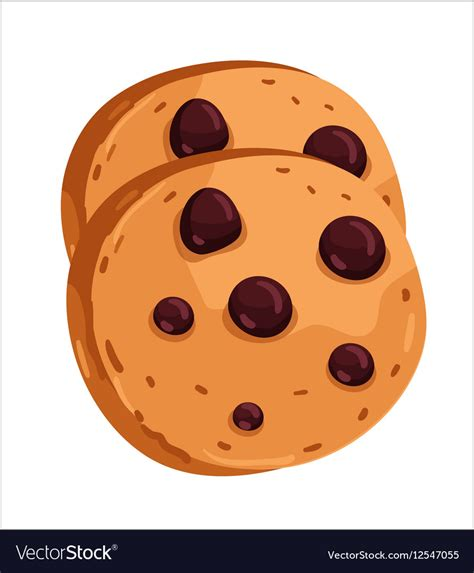 chip cookies clipart vector chocolate chip cookie royalty free vector image Chocolate