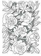 Coloring Pages Hard Flowers Rose Flower Realistic Popular Killer sketch template