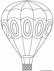 Printable hot air balloon coloring book pages for kidsFree ...