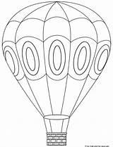 Balloon Coloring Air Pages Printable Balloons Colouring Ballon Baloon Template Ballons Lego sketch template