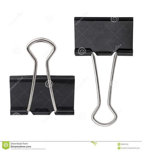 Black Clip Black Paper Clip Stock Photo Image Of Holder Object