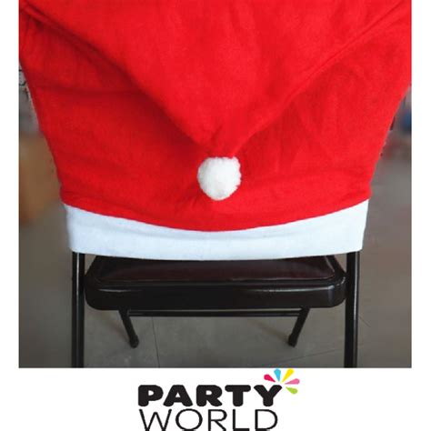 santa hat chair back cover