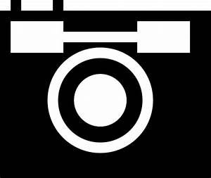 File:Black and white camera icon.svg - Wikipedia