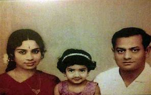 Image result for sridevi with her parents childhood