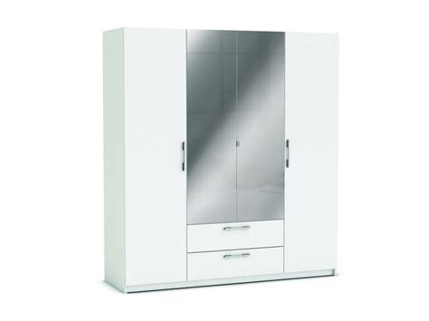 armoire de chambre blanche armoire 4 portes 2 tiroirs jupiter coloris blanc vente