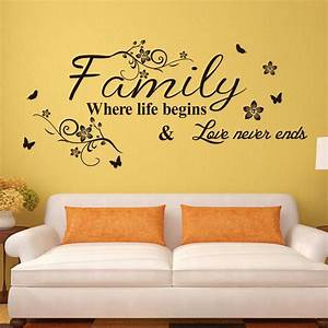 Vinyl wall art decal decor quote stickers family where