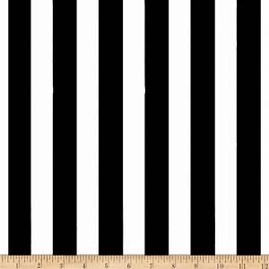 1 in. Stripe Black/White - Discount Designer Fabric ...