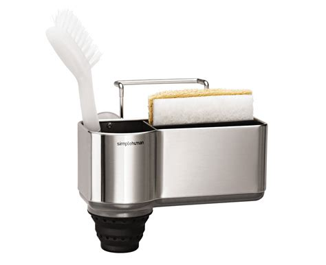 kitchen sink holder simplehuman brushed steel sink caddy 2741