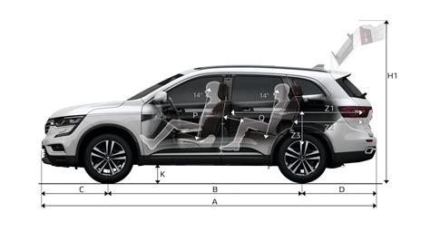 cabine de avec siege dimensions koleos véhicules particuliers véhicules