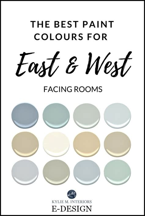 the best paint colours for east facing rooms