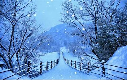 4k Winter Japan Nature Roads Wallpapers Snow