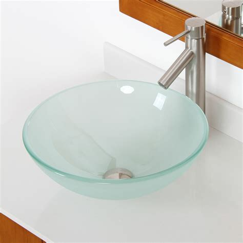 Sink Bowl Bathroom by Elite Layered Tempered Glass Bowl Vessel