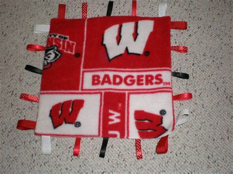 University Of Wisconsin Badgers Fleece Baby Sensory Ribbon Tag Blanket How To Make Knotted Fleece Blanket Travel Ideas For Baby Blankets Easy Green Plaid Throw Organic Crib Weaving Patterns Bright Light Pillow And Crochet Edges