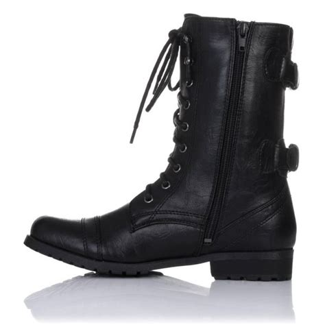 black lace up biker boots primal flat lace up ankle biker worker boots black