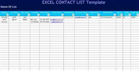 excel list templates exceltemplates exceltemplates