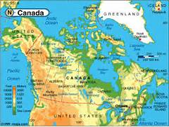 yell0-xvostic1 blogspo                                       Canada Physical Map